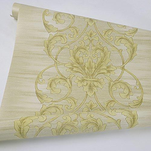 Zhzhco American Retro Style Normalpapier Tapete Grün Leuchtende Farbe Wand-Zu-Wand Wohn-Und Schlafzimmer Tapete 0.53M*10M