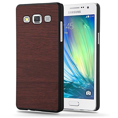 Preisvergleich Produktbild Cadorabo Hülle für Samsung Galaxy A5 2015 (5) - Hülle in Woody Kaffee - Hardcase Handyhülle in Vintage Holz Optik - Schutzhülle Bumper Back Case Cover