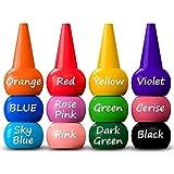 SODIAL Crayons De Doigt pour Les Tout-Petits,12 Couleurs Crayons Grip Palm Grip Paint pour Bebes Crayons pour Tout-Petits,Peinture au Doigt Lavable,Crayons Non Toxiques,Enfants,Garcons et Filles
