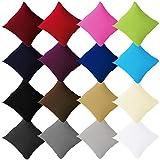 Buymax - Jersey Kissenbezüge im Doppelpack 2er-Set mit Reißverschluss aus 100% Baumwolle Verschiedene Größen und Farben Öko Tex, 40x40cm Apfelgrün Grün