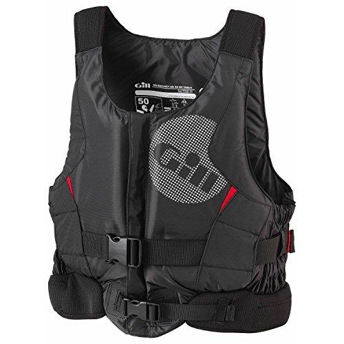 Gill Pro Racer Front-Kajak-Jolle Segeln PFD Auftriebshilfe für Wassersport Schwarz - Einfacher Front-RV-Zugang (Kajak Angeln Schwimmweste)