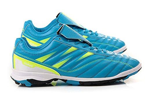 a-nam hommes Chaussures de Football Bottes de Football sol dur pour l'intérieur, de football Entraînement, Course à pied et Quotidien Blue Yellow