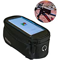 a824726dd7c Roswheel Cycling Bike Bicycle Mobile Cell Phone Pannier Front Top Tube Bag  (Black) Large