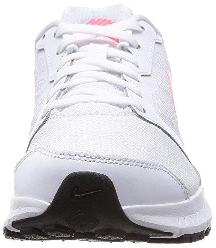 Nike Damen Downshifter 6 Laufschuhe Weiß (White/Hyper Punch-Lite Magnet Grey)
