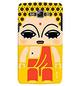 Citydreamz Indian Girl Abstract Pattern Hard Polycarbonate Designer Back Case Cover For Samsung Galaxy A7