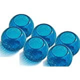 King International Blue Crystal Glass Tea Light Holder With Beautiful Design | Set Of 6 For Home,Office,Wedding Décor