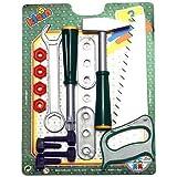 Theo Klein 8006 - Werkzeug-Set mit Kunststoff-Schrauben, 6-teilig