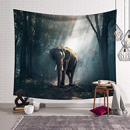 QYSZYG Grupo de Elefantes tapicería 3D Arte Visual tapicería de Pared Muebles...