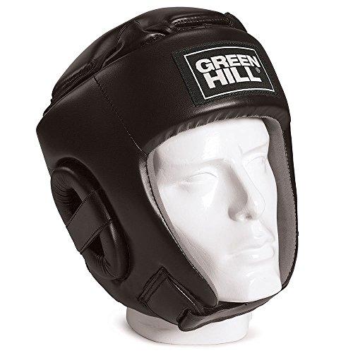 GREEN HILL HGG-9046 Caschetto da Kick Boxing, Unisex – Adulto, Nero, L