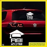 Abi Aufkleber Typ58 Autoaufkleber Abitur 2018