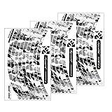 "Felgenrandaufkleber Laufrad LRS SATZ Camouflage ""The invisible man"" für dein Fahrrad, MTB Sticker - .SCHWARZ WEISS"