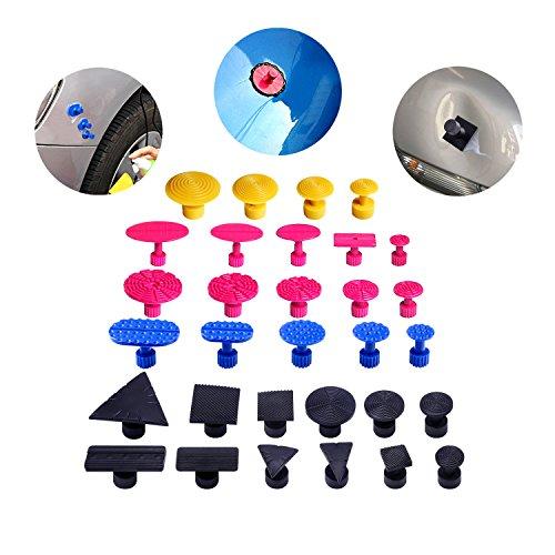 Preisvergleich Produktbild autopdr® 28Stück paintless Kleber Abzieher Sets Taben für Auto Body Dent Entnahme Repair Werkzeug Dent Lifter T Slide Hammer
