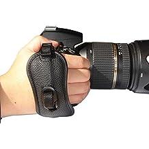 First2savvv OSH0401 Grip muñeca Profesional Correa negro de mano de cuero genuino para Nikon D7000 D90 D5100 D5000 D3100 D3000 D700 D300s D3X D3S D800 D800E D3200 D4 D600 D5200 COOLPIX P7100 P510 L310 L810 P520 L820 Film SLR Camera F6 D7100 L320 Panasonic Lumix DMC-GH2 DMC-FZ48 DMC-FZ100 DMC-FZ150 DMC-G2 DMC-G5 DMC-G3TWIN DMC-LZ30 DMC-GH3 DMC-LZ20 MC-FZ200 DMC-FZ62 DMC-FZ45 DMC-GH3 DMC-LZ30 D DMC-GH2 DMC-G6 DMC-FZ72 Samsung NX11 NX20 Galaxy NX 20.3MP Digital Camera EK-GN120 Leica v-lux3