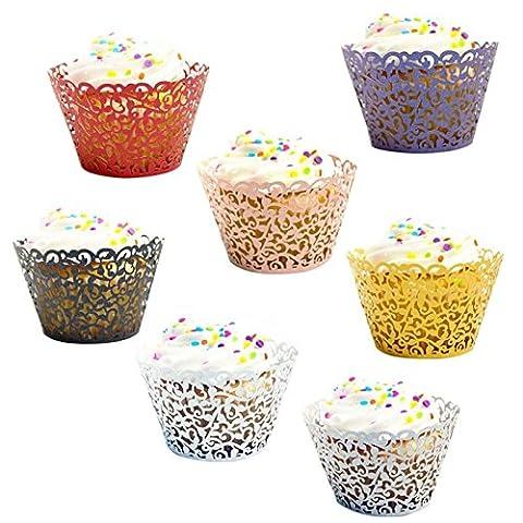 Npradla 24PC NEUF. Little Vigne Dentelle découpé au laser Cupcake Wrapper Liners cuisson Tasse Muffin