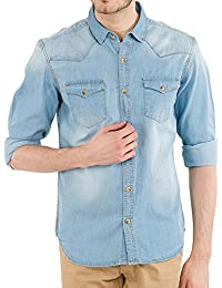 Lafantar Cotton Denim Shirts for Men