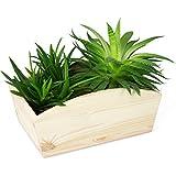 Caja de flores de madera maciza - pino natural sin tratar - aproximadamente 28 x 16 x 12 cm - Certificado FSC - laublust