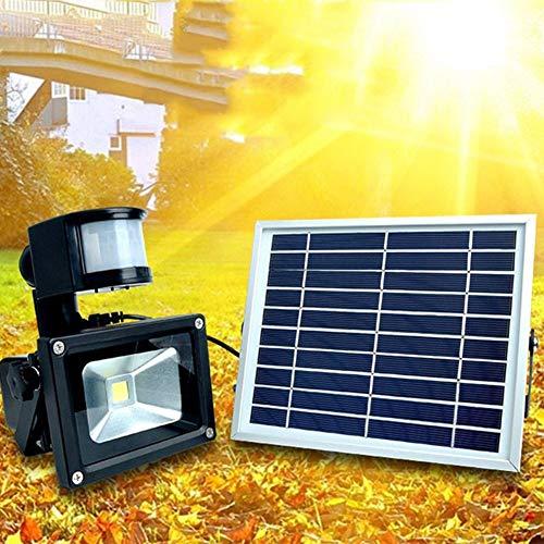 M-zmds Luz solar impermeable para jardín LED PIR Sensor de movimiento Muro Lateral Lámparas de cerca Detector de movimiento al aire libre Luz activada para patio, Terraza, Patio, Jardín, Hogar, Entrad