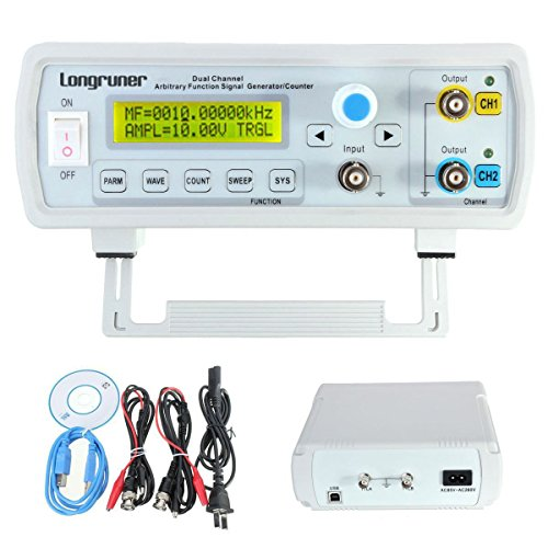 Longruner 24MHz Dual channel DDS Function Signal Generator, High Precision Arbitray Waveform Generator FY3224S