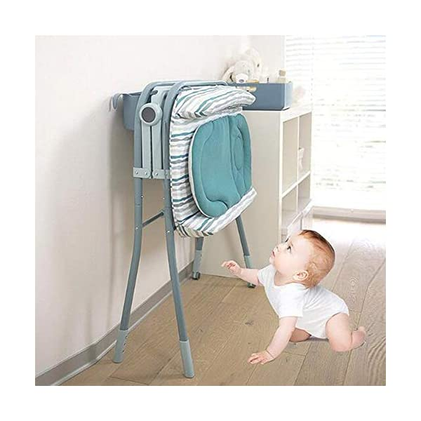 Baby Changing Table Unit Changing Station Storage Trays And Bath With Tub AA-SS-Baby Changing Table Comfortable height for changing the baby You can always keep a hand on your baby Material : New Zealand pine + lacquer-free board 6