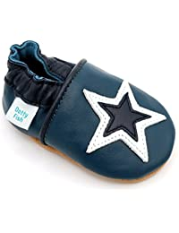 Dotty Fish Soft Leather Baby and Toddler Shoes. Boys and Girls. Stars. 0-6 Months - 4-5 Years