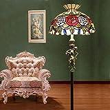 HEFEI Tiffany Style Stehleuchte Europäischen Stil Glas Standard Lampe Einfache Stehleuchte Dekoration Eisen Stehleuchte XIAOXIAO