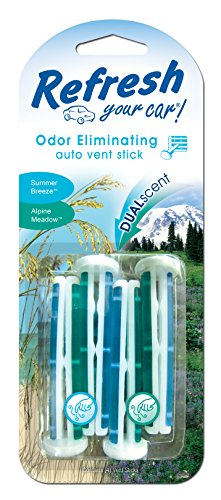 Preisvergleich Produktbild AMERICAN COVERS INC - Car Air Freshener, Vent Stick, Summer Breeze & Alpine Meadow Scents, 4-Pk.