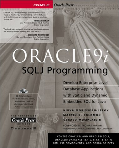 Oracle9i SQLJ Programming (Oracle Press Series) por Nirva Morisseau-Leroy