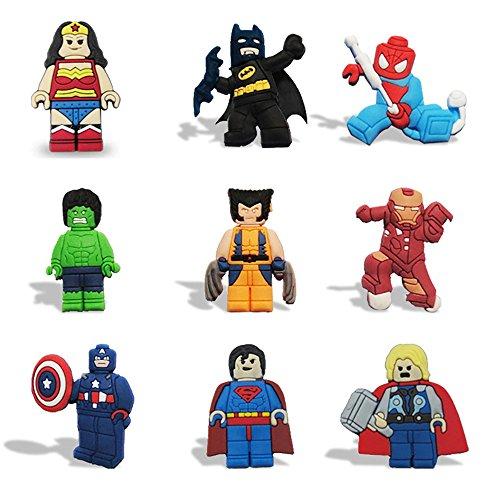 DEBON Kühlschrankmagnete lustiges Superhelden Kühlschrank Magnet Set, niedliches Cartoon, Küche, Spielzeug, Dekoration, ideal für Whiteboard, Karten, Notizen, Kalender, Geschenk, siehe abbildung