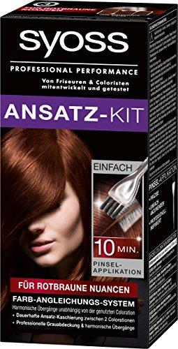 Syoss Ansatz-Kit für rotbraune Nuancen Stufe 3, 3er Pack (3 x 1 Stück)