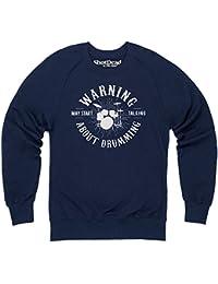 May Start Talking About Drumming Sweatshirt mit Rundhals, Herren
