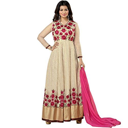 Vasu Saree Ayesha Takia Ivory Net & Georgette Anarkali Salwar Kameez
