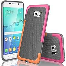 Funda Samsung Galaxy S6 Edge, HanLuckyStars, TPU Funda Carcasa para Galaxy S6 Edge, Carcasa Galaxy S6 Edge Funda con [Ultra Fina][Anti-Arañazos][Anti-Choques][Garantía de por vida](Gris Oscuro)