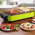 DZQZR Reise-Elektrogrill mit Thermostat, Faltbarer Holzkohlegrill-Grilltisch, für 3-5 Personen Indoor Outdoor Party Camping, große Kapazität DMZ