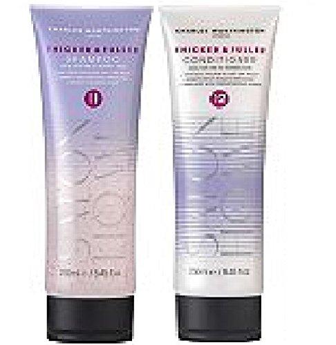 (Lot de 2) Charles Worthington épais et Fuller Shampooing X 250 ml, et plus épais et Fuller Après-shampooing X 250 ml * * Livrée dans un double paroi Box * *