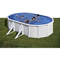 Gre KIT500ECO- Piscina Fidji desmontable ovalada de acero color blanco 500x300x120 cm