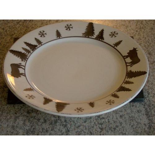TABLE&COOK Assiette à dessert 'vache gris taupe' (lot de 6) - F361000328D0206