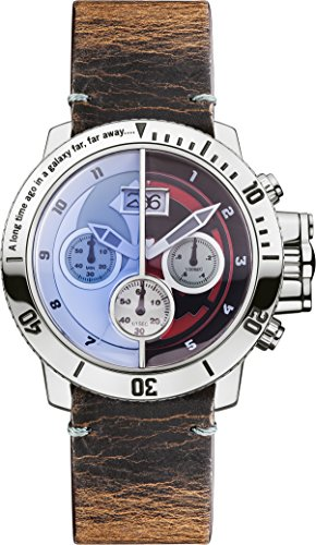 Star Wars Unisex Quartz Watch with Multicolour Dial Chronograph Display and Brown Distressed Leather Strap STAR314