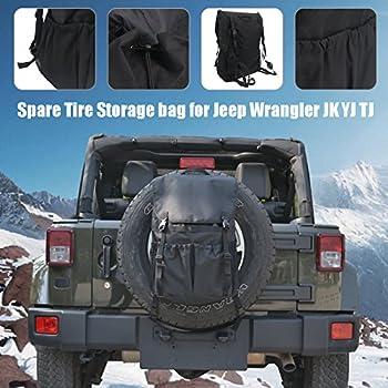 Travel Holder Bag, Hohe Kapazität Rucksack Cargo Satteltasche Reserverad Aufbewahrungstasche Für Wrangler Jk Yj Tj Suv 0