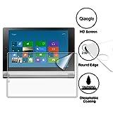 Qiaogle Display Gehärtetes Glas Schutzfolie für Lenovo Yoga Tablet 2-10 (10 Zoll) / Lenovo Yoga Tablet 2-10 1050F Schirm Schutz [mit 9H Härte * Ultra klar * Anti-Kratz]