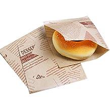 TOOGOO 100 unids 12x12 cm Sandwich Donut Pan Bolsa Galletas Donut Bolsas de Papel A Prueba