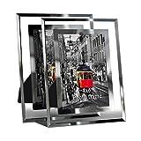 Giftgarden Bilderrahmen 10 x 15 cm 2er Set Glas Fotorahmen Hochzeit Rahmen Geschenk Friends Family