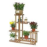 Soporte de Madera para Flores Estantería decorativa de Macetas Plantas para Exterior Interior con 6...