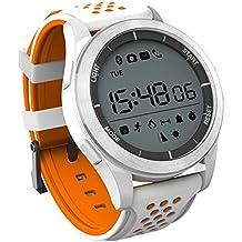 Smartwatch IP68 cámara a prueba de agua GPS 3G WiFi Bluetooth 4.0 podómetro ,: Android 4.4 / iOS 9.0 y sistemas superiores, barómetro, recordatorio sedentario, podómetro, monitor de sueño ( Color : Naranja )