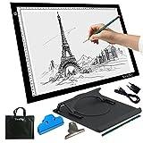 Yaufey A3 ultra sottile LED regolabile Pad portatile segnalazione Light Box per gli artisti di disegno radiografie display disegno Animazione, 10 livelli di luminosità