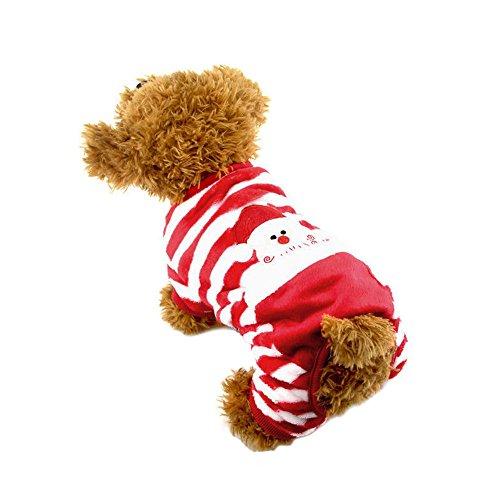 Samt Rot Kostüm - wlgreatsp Hund Weihnachtsmann Hoodies Mäntel Weihnachten Pet Kostüme Kleid rot Samt Kleidung