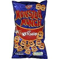 Vico - Monster Munch Produit soufflé à base de pomme de terre, goût ketchup Le paquet de 85g - Prix Unitaire -...