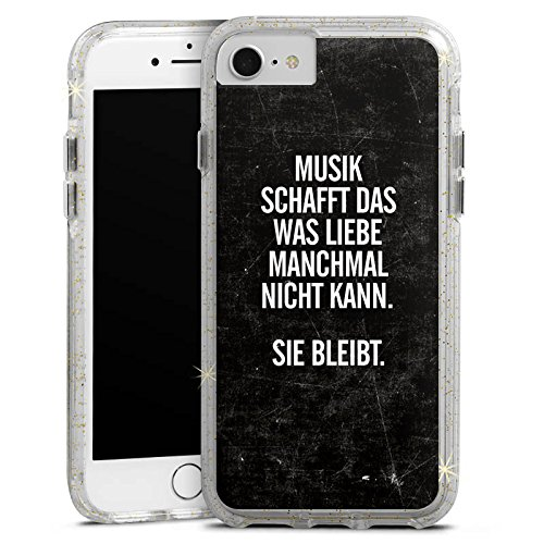 Apple iPhone X Bumper Hülle Bumper Case Glitzer Hülle Sayings Phrases Sprüche Bumper Case Glitzer gold