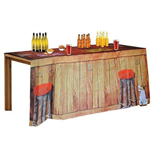 trendaffe Hausbar Tischdecke mit Beer Pong Feldern - Bartheke Trinkspiel Saufspiel Partyspiel