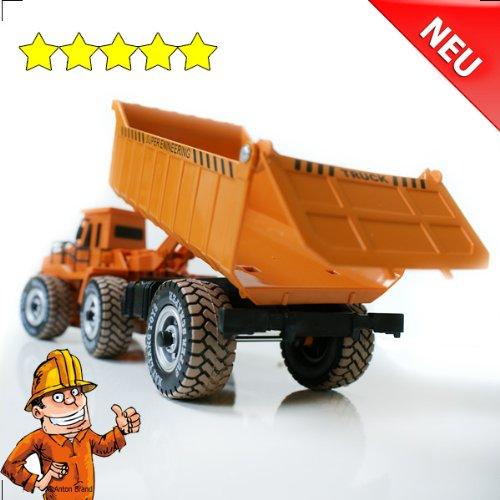 RC LKW kaufen LKW Bild 1: RC Muldenkipper Kipplader Bagger ferngesteuertes Baufahrzeug Super Truck 27 MHz V&V ®Noyan*