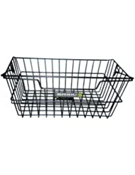 cesta para la rueda trasera, PVC negro Basil, biselada 11011
